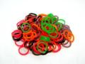 100 Haargummis in Multicolor